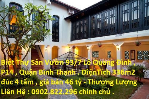 Biệt Thự Lê Quang Định, Phường 14, Quận Bình Thạnh