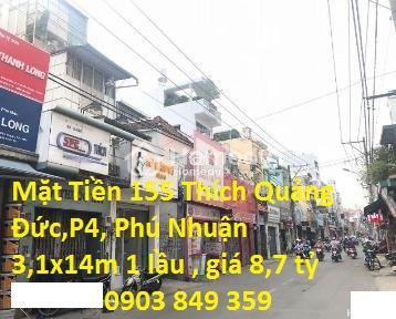 Bán gấp nhà MTKD 155 Thích Quảng Đức, P.4, Quận Phú Nhuận