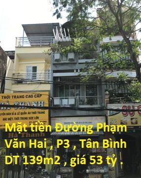 Bán nhà 2 mặt tiền Phạm Văn Hai,P3, Q.Tân Bình