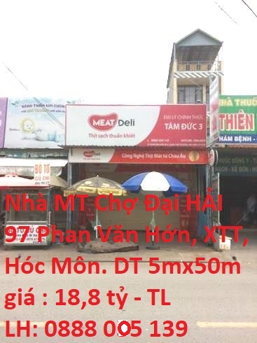 Bán Nhà MT Chợ Đại Hải Đường Phan Văn Hớn, xã Xuân Thới Thượng, Hóc Môn