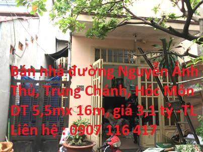Chính chủ bán nhà cấp 4 có gác lửng  ĐC: 148/7 Nguyễn Ảnh Thủ, Xã Trung Chánh, H. Hóc Môn, TP HCM