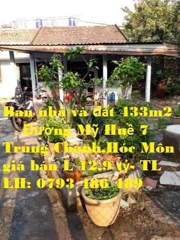 Bán Nhà và Đất 2 Mặt Tiền Đường Mỹ Huề 7, Trung Chánh , Hóc Môn. TP HCM