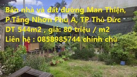 Chính chủ cần bán toàn bộ nhà + đất Số 118/10 Đường Man Thiện, P.Tăng Nhơn Phú A, Thành Phố Thủ Đức